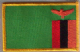 Zambia Embroidered Flag Patch, style 08.